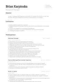 Restaurant Manager - Resume Samples & Templates | VisualCV 910 Restaurant Manager Resume Fine Ding Sxtracom Guide To Resume Template Restaurant Manager Free Templates 1314 General Samples Malleckdesigncom Store Sample Pdf New 1112 District Sample Tablhreetencom Best Example Livecareer Objective Samples For Supply Assistant Rumes General Bar Update Yours 2019 Leading Professional Cover Letter Examples In Hotel And Management