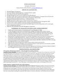 Customer Service Manager Resume Description