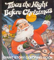 TWAS THE NIGHT BEFORE CHRISTMAS Giant Story Coloring Book Clement C Moore 4 Images