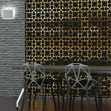 Metallic Tile Effect Wallpaper by Hybrid Between A Wallpaper And A Tile Pattern Decotal Tiles