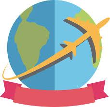 Travel World Around The Plane Logo