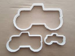 100 Monster Truck Cookie Cutter 4x4 Pickup Shape Dough Biscuit Pastry
