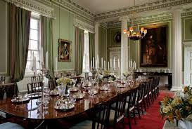 The Royal Dining Room In State Apartments At Palace Of Holyroodhouse