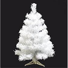 Prettybuy Christmas Tree With Plastic Stand3 Feetpvc White