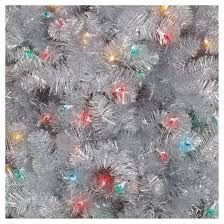 7ft Artificial Christmas Tree With Lights by 7ft Prelit Artificial Christmas Tree Silver Alberta Spruce
