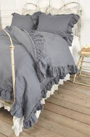 Simply Shabby Chic Curtains Pink by Vintage Ruffle Duvet Cover From Full Bloom Cottage Love The