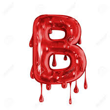 Blood Font Halloween Horror Letter B Stock Photo Picture And