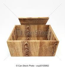 Open Vintage Wooden Crate Stock Illustration