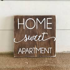 Home Sweet Apartment Wood Sign Decor College