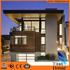100 Modern Design Of Houses Luxury Economic High Quality Steel Structure Flat Roof Prefab Villa Made In China View Luxury Modern Design Prefabricated Villa