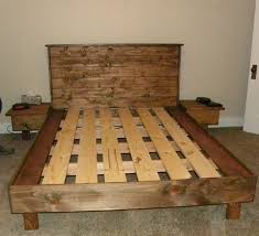 a queen size bed platform no box spring necessary built from