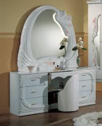 Vanity Mirror Dresser Set by Modrest Vanity White Italian Classic Bedroom Set Bedroom