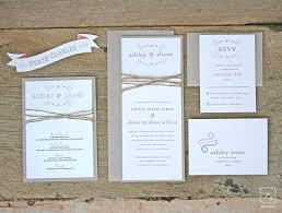 Rustic Wedding Invitations Cheap 1381 And Twine Invitation Set Sample Canada