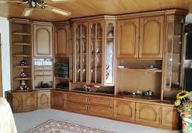 große wohnzimmer schrankwand mit eckteil in eiche rustikal