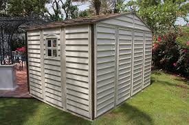 Lifetime 10x8 Shed Assembly by Woodside 10 X 8 Vinyl Storage Shed With Foundation And Three Fixed