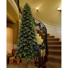 Slim Pre Lit Christmas Trees 12 u0027 artificial aspen fir pre lit christmas tree