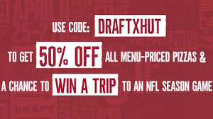 Pizza Hut Promo Code: Use Code DRAFTXHUT To Get 50% OFF Menu ... Sign Up For Pizza Hut Wedding Favors Outdoor Wedding Pizza Hut Deals Large 98 10 Off More Offering 50 During 2019 Nfl Draft Ceremony 3 Medium Pizzas 5 Micro Center Computers Off On At Monday Friday Coupons Uk Beretta Online Promo Codes Twitter Get Menupriced 15 Laest Coupons Cashback Offers And Promo Code At Tip On Personal Pizzas Are As Low 2 Simplemost New Codes Free Mcdonalds Voucher Coupon