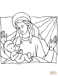 Religious Christmas Coloring Pages In
