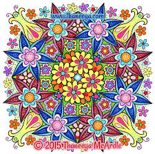 Flower Mandalas Coloring Book From Thaneeya McArdle