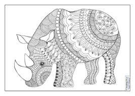Mindfulness Colouring Images Animals