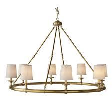 Devon 8 Light Chandelier Antique Brass