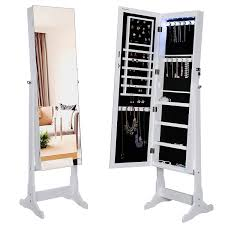 Furniture: Full Length Mirror Jewelry Armoire | Jewelry Armoire ... Fniture Target Jewelry Armoire Free Standing Box With Mirror Image Of Cabinet Mf Cabinets Amazing Ideas Inspiring Stylish Storage Design Big Lots Wall Mounted Interior