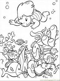Ocean Animals Coloring Page With Lilo