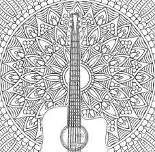 Free Coloring Pages Music The Adult Guide