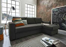 atlantic home collection ecksofa mit bettfunktion und bettkasten recamiere links oder rechts montierbar inklusive federkern