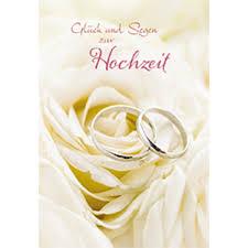 Glückwunschkarte Glück Und Segen Zur Hochzeit 6 Stck Motiv Eheringe Auf Rose
