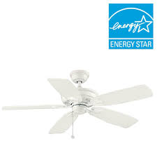 Ceiling Fan Humming Loud by Hugger 52 In Led Indoor White Ceiling Fan With Light Kit Al383led