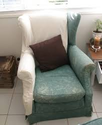 Oversized Wingback Chair Slipcovers by Accessories Wing Back Chair Slip Cover Within Elegant Furniture