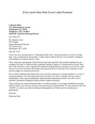 Cover Letter For Administrative Support Officer Position Entry Level Help Desk Example