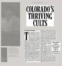 COLORADOS THRIVING CULTS