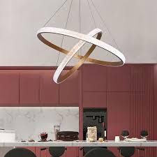 moderne pendelleuchte led ring design aus acryl für wohnzimmer