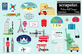 World Travel Clipart Illustrations Creative Market