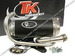pot d échappement turbo kit tk scooter 4t 50cc piaggio fly