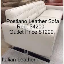1 299 chateau d ax positano leather sofa dovegray furniture