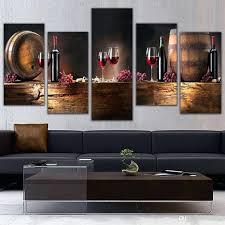 wall decor superb unframed 3 panel reto abstract wine grape