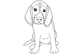 Beagle Coloring Pages Free Printable Realistic Sheet Colouring