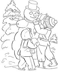 Winter Coloring Pages For Preschool Sheets Free Printable Also
