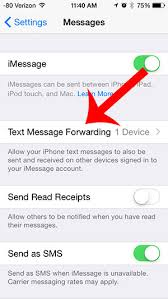 Turn f Text Message Forwarding from the iPhone 5 Solve Your Tech