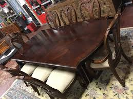 Dining Room Table 6 Side Chairs 2 Arm Chairs 2 Leaves