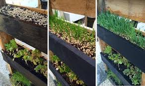 Upcycled Pallet Vertical Herb Garden