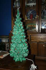 Vintage Atlantic Mold Ceramic Christmas Tree by Vintage Ceramic Christmas Trees Collection On Ebay
