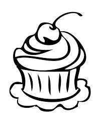 Birthday cupcake slice drawing