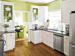 Awesome Green Square Modern Wooden Kitchen Cabinet Paint Stalied Design