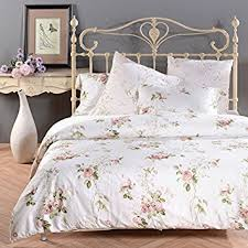 Amazon Sisbay Romantic Rose Print Duvet Cover Vintage Tencel