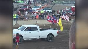100 Confederate Flag Truck Family Sits During National Anthem Because Of Flag