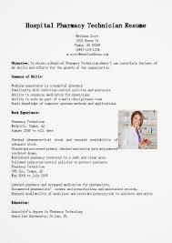 Healthcare Medical Resume Hospital Pharmacy Technician Sample Professional Summary